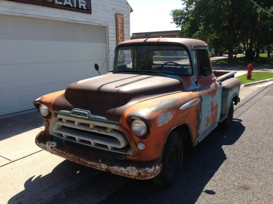 57 Chevy 3100 Patina