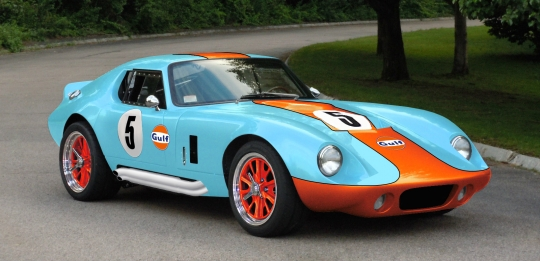 Factory Five Type 65 Coupe in Gulf Colors
